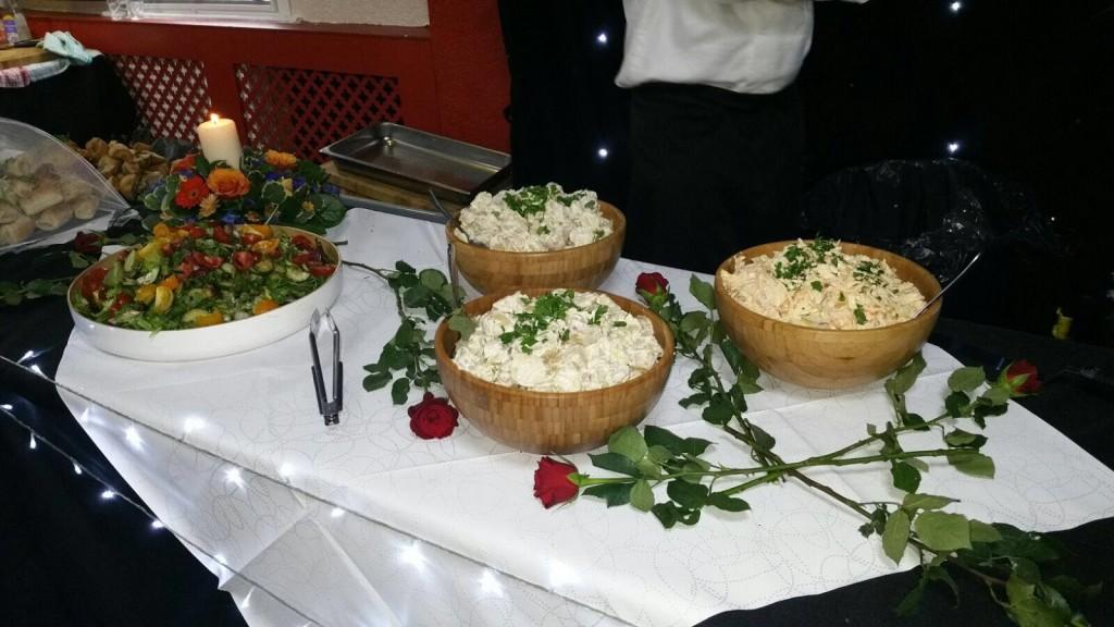 Selection Of Fresh Salads And Coleslaw