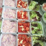 Homemade Coleslaw And Fresh Salads
