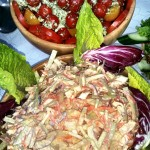 Tomato & Mozzarella Salad With Homemade Coleslaw