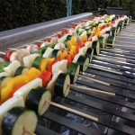 Grilled Vegetable and Halloumi Skewers (v)